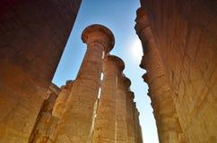 Столбец thebes виска серии karnak Египета Луксор Египет Стоковое фото RF