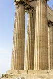 Столбцы акрополя Стоковая Фотография