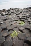 Столбцы базальта, гигантская мощёная дорожка ` s, Co Антрим, Северная Ирландия Стоковое Фото