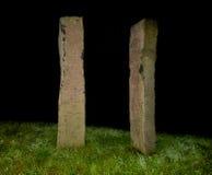 Столбцы в ноче Стоковые Фото