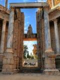 Столбцы в римском театре в Мериде Стоковое Изображение