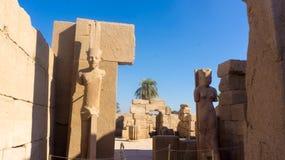 Столбцы и гигантские статуи внутри Стоковое Изображение RF