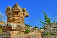 Столбцы и руины древнегреческия Стоковая Фотография RF