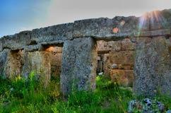 Столбцы и руины древнегреческия Стоковое фото RF