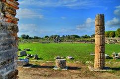 Столбцы и руины древнегреческия Стоковое Изображение RF