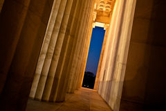 Столбцы мемориала Линкольна Стоковая Фотография