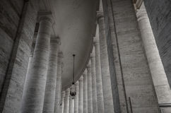 Столбцы на Ватикане стоковое фото