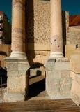 Столбцы на римском театре стоковое изображение rf