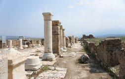 Столбцы на Laodikeia, Турции Стоковое Изображение RF