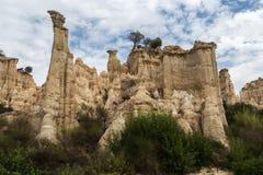 Столбцы песчаника в Ille-sur-Têt, Франции Стоковое Фото