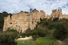 Столбцы песчаника в Ille-sur-Têt, Франции Стоковая Фотография RF