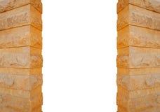 Столбцы сделанные изолированного камня на белой предпосылке Стоковые Изображения