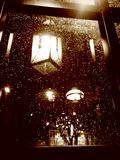 Столб лампы на дождливый день Стоковое Фото
