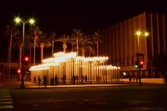 Столб лампы центра искусства ЛА далеко Стоковые Изображения