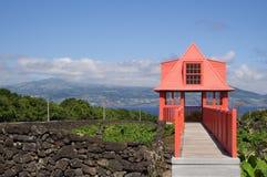 Столб взгляда музея вина стоковое изображение