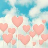 Столб знака сердец Стоковые Фотографии RF