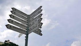 Столб знака Стоковое Изображение RF