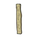 столб древесины шаржа Стоковые Фото