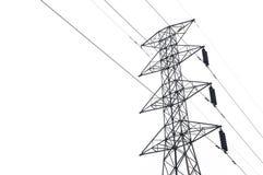 Столб электричества изолированный на белизне Стоковые Фото