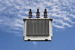 Столб электричества, трансформатор Стоковое Изображение RF