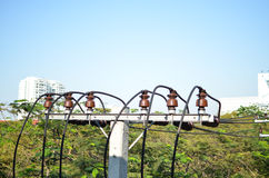 Столб электричества Стоковое Изображение RF