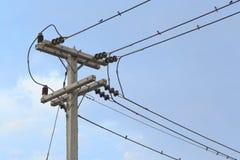 Столб электричества Стоковое Изображение