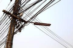 Столб электричества Стоковая Фотография