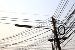 Столб электричества Стоковое Фото