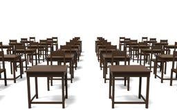 Стол в предпосылке белизны комнаты Стоковое Изображение