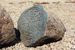 Столетний камень, вода Derwent, (национальное доверие) Стоковые Фото