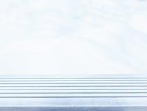 Столешница палубы пустого снега деревянная готовая для монтажа дисплея продукта Стоковое Изображение RF