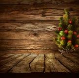 Столешница с рождественской елкой Стоковая Фотография