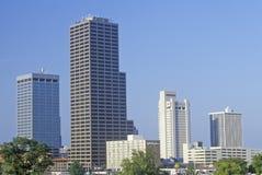 Столица государства и горизонт в меньшем утесе, Арканзас Стоковое фото RF