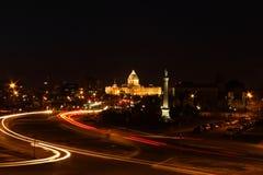 Столица государства Минесоты на ноче Стоковые Изображения