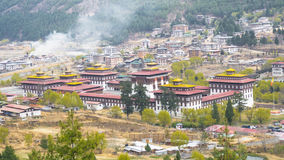 Столица Тхимпху страны долины Бутана Стоковые Фотографии RF