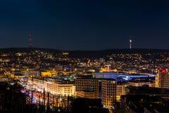 Столица Baden Wuerttemberg Da ландшафта городского пейзажа Штутгарта Стоковое Изображение