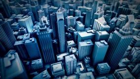 Столичная анимация петли города иллюстрация штока