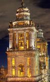 Столичные Steeples колоколы Zocalo Мехико Мексика собора Стоковые Фотографии RF