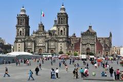 столичный житель Мексика города собора стоковое изображение rf