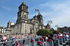 столичный житель Мексика города собора стоковые изображения
