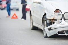 Столкновение аварии дороги в городской улице Стоковая Фотография RF