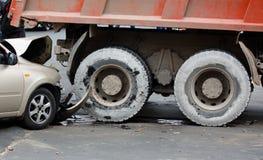 столкновение Авария на дороге стоковое фото