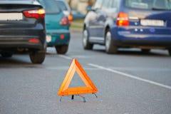 Столкновение автокатастрофы автомобиля Стоковое Изображение