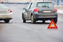 Столкновение автокатастрофы автомобиля Стоковое Изображение RF