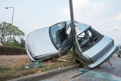 Столкновение автомобиля стоковое изображение