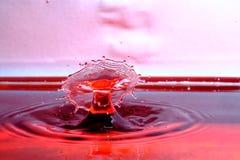Столкновение падения воды стоковые изображения