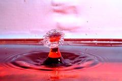 Столкновение падения воды стоковое изображение rf