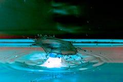 Столкновение падения воды стоковое фото rf