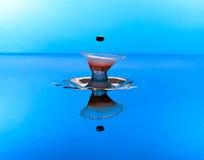 Столкновение падения воды Стоковое Изображение