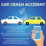 Столкновения задней части автокатастрофы Иллюстрация штока